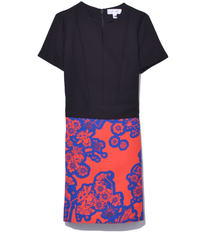 blue royal/rouge short sleeve dress