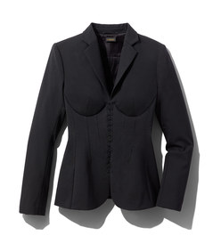 black wool corset jacket