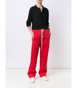 ShopBazaar Chloe Technical Jersey Track Pant FRONT