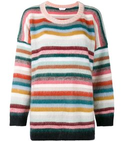 multicolor oversized striped sweater