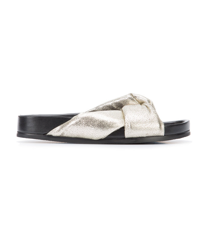 silver crossover sandal