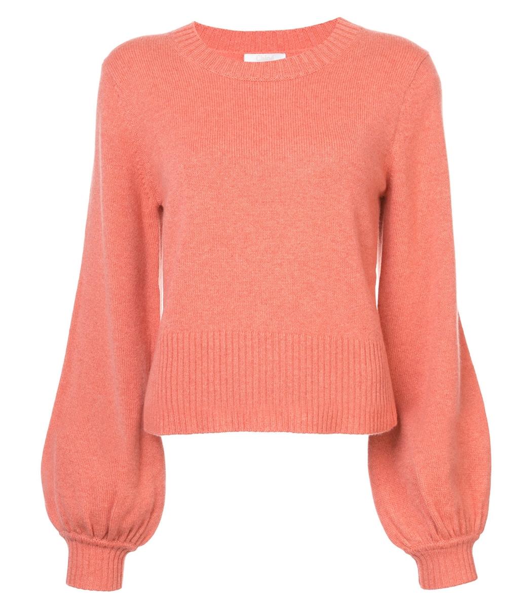 Chloé Cashmere Sweater - Orange Cuffs Sweater