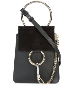 black mini faye shoulder bag