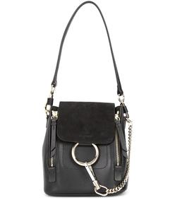 black mini faye backpack bag