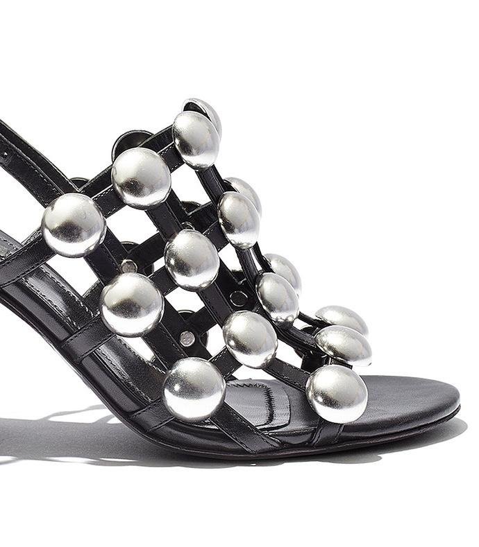 black dome stud 'nadia' sandal