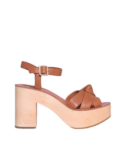 brown 'cuoio elsa' sandal