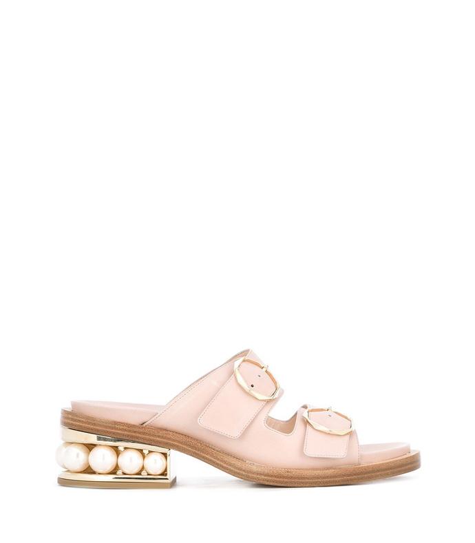 blush 'casatil' pearl two-strap sandal