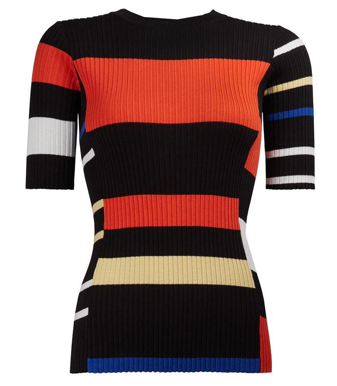 multicolor stripe knit
