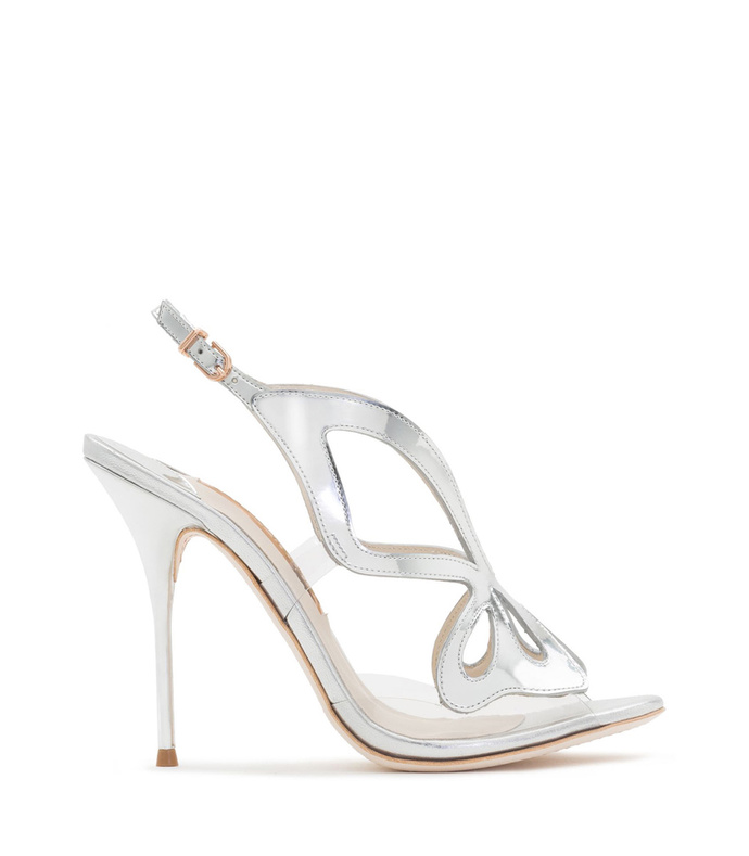 silver madame butterfly sandal