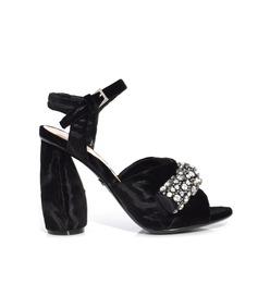 black noir sully sandal