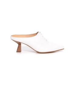 optical white antoinette mule