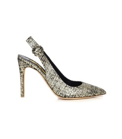 platinum diana tweed pump