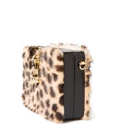 ShopBazaar Dolce and Gabbana Mini Box Leopard Bag FRONT