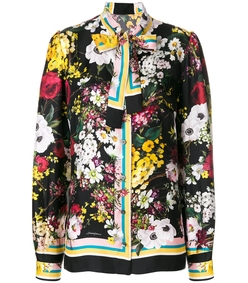 multicolor floral print blouse