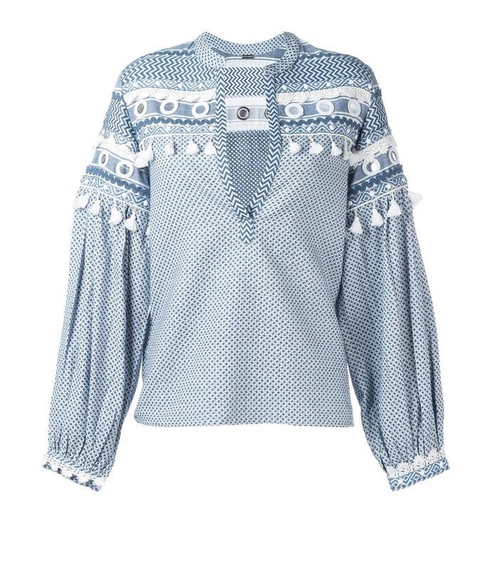 blue 'nathaniel' blouse