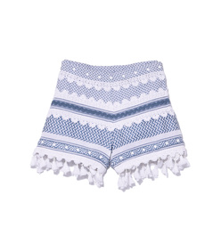 blue & white 'moav' shorts