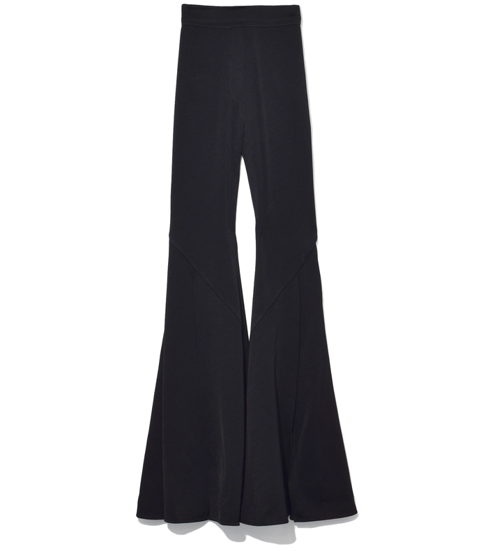 black higher and higher wide flare pant