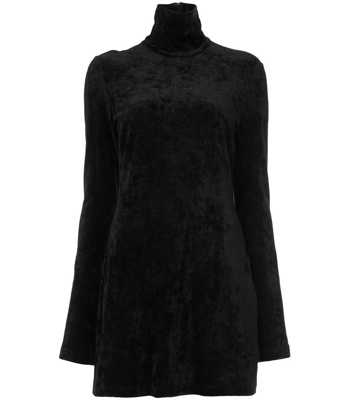 Black Turtleneck Dress EY36P03-BLK-6U/2