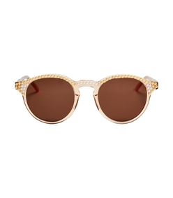 brown alexis clear and peach pearl sunglasses