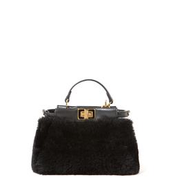 ShopBazaar Fendi Micro Shearling 'Peekaboo' Bag MAIN