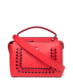 red 'dot com' threading bag