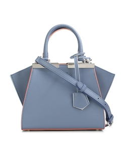 small blue '3 jours' tote