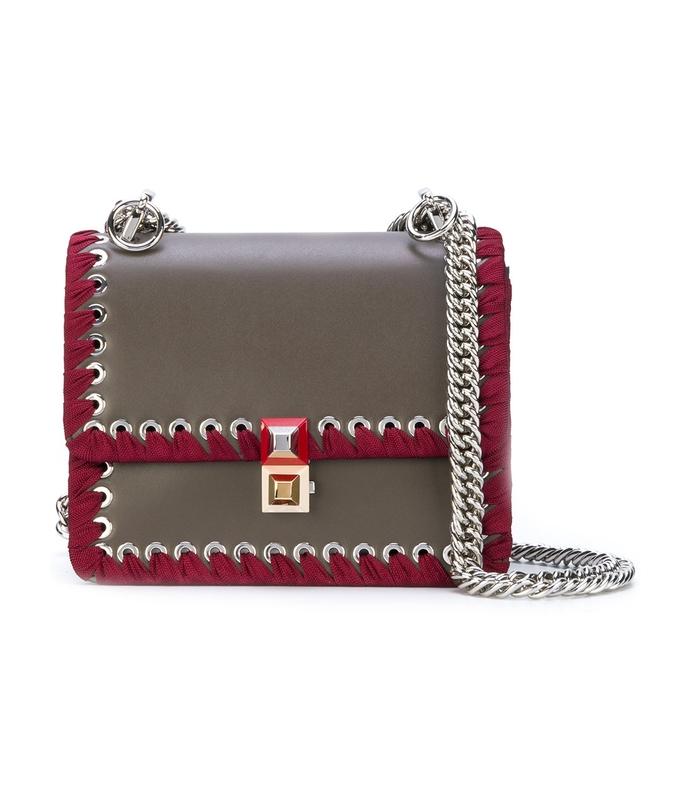 grey burgundy mini kan i small shoulder bag