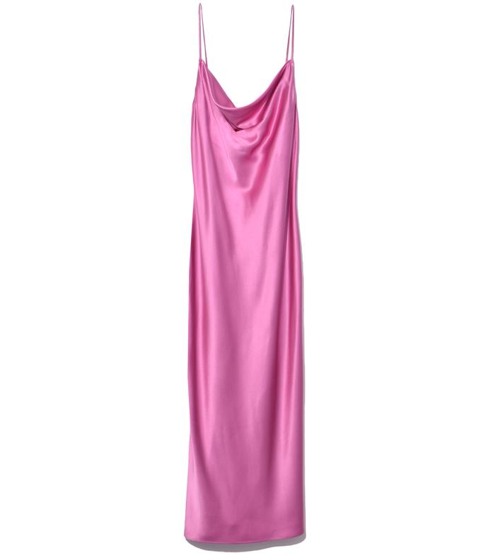 kate pink cowl neck slip dress