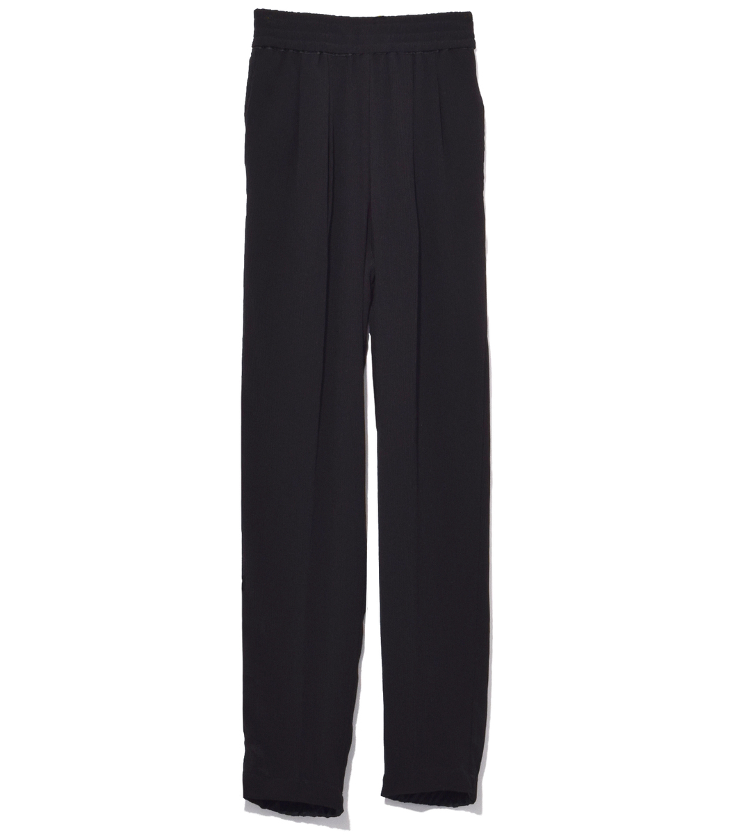 Nero Creponne High Waist Pants
