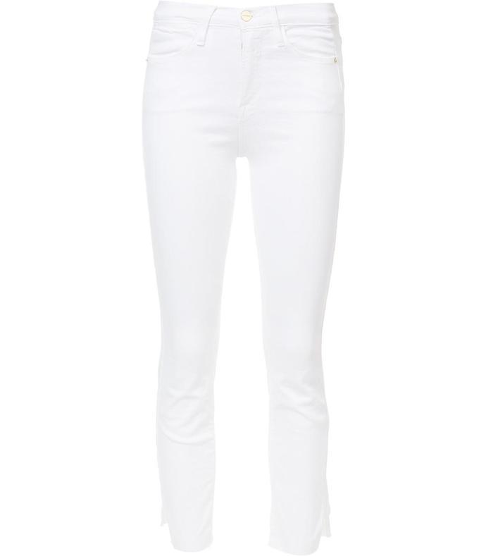 white straight jean
