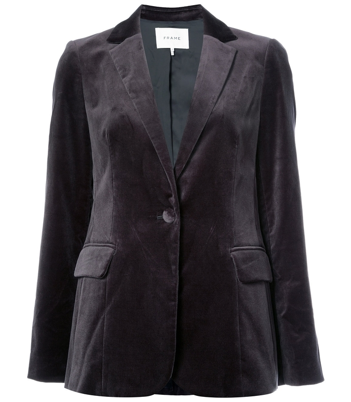 charcoal velvet blazer