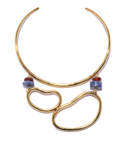 gold 'arp' collar necklace
