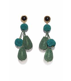 blue green meteor earrings