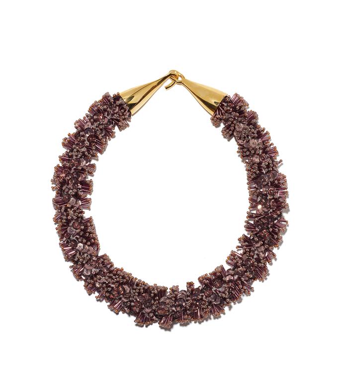 burgundy spirit sequin collar
