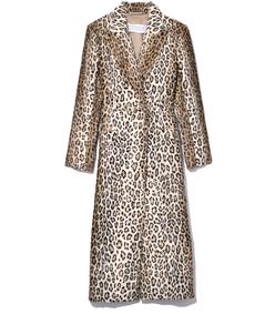 leopard velvet ellis coat