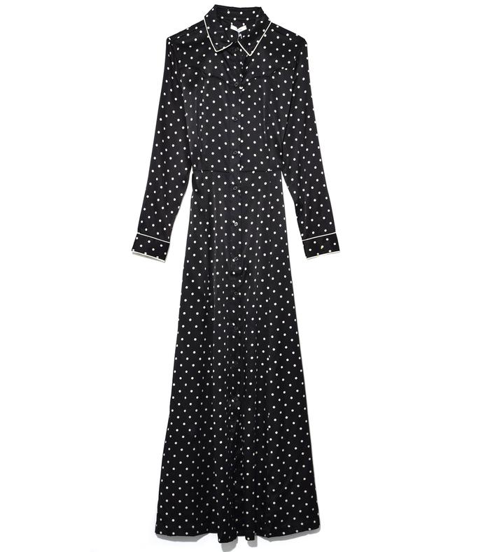 Dufort Silk Dress in Black 210000026725