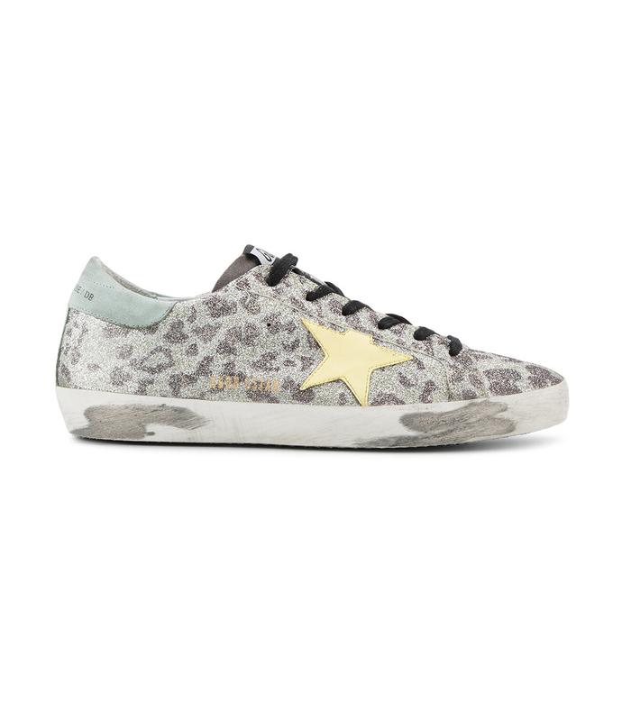 leopard sparkle 'superstar' sneaker