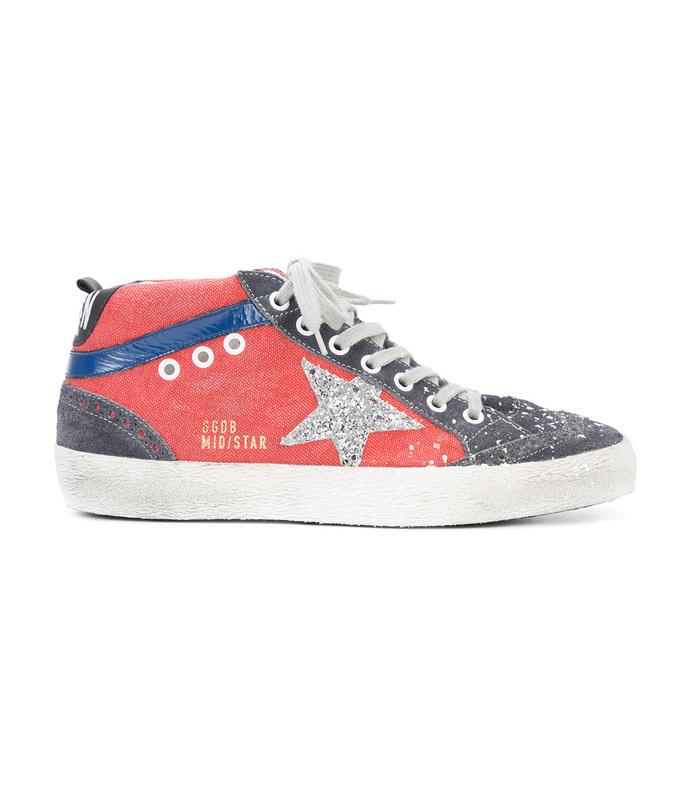 multicolor suede mid star sneaker