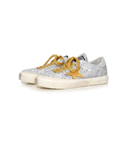 silver glitter & gold star may sneakers