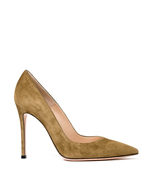 army suede pointed pump
