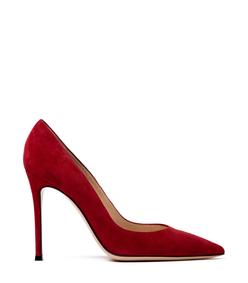 red suede pump