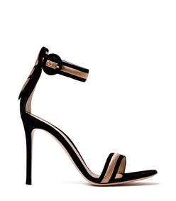 black & gold 'portofino' metallic sandal