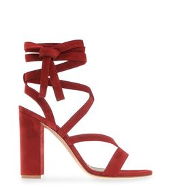 red 'janis' sandal