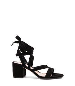 black 'janis' lace-up sandal