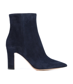 navy pointed toe boots