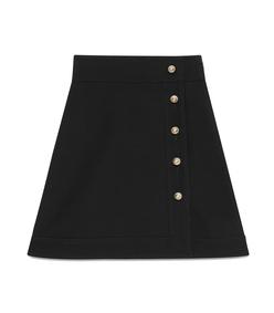 black 'cady' crepe skirt