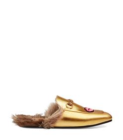 ShopBazaar Gucci 'Princetown' Lips & Fur Mule MAIN