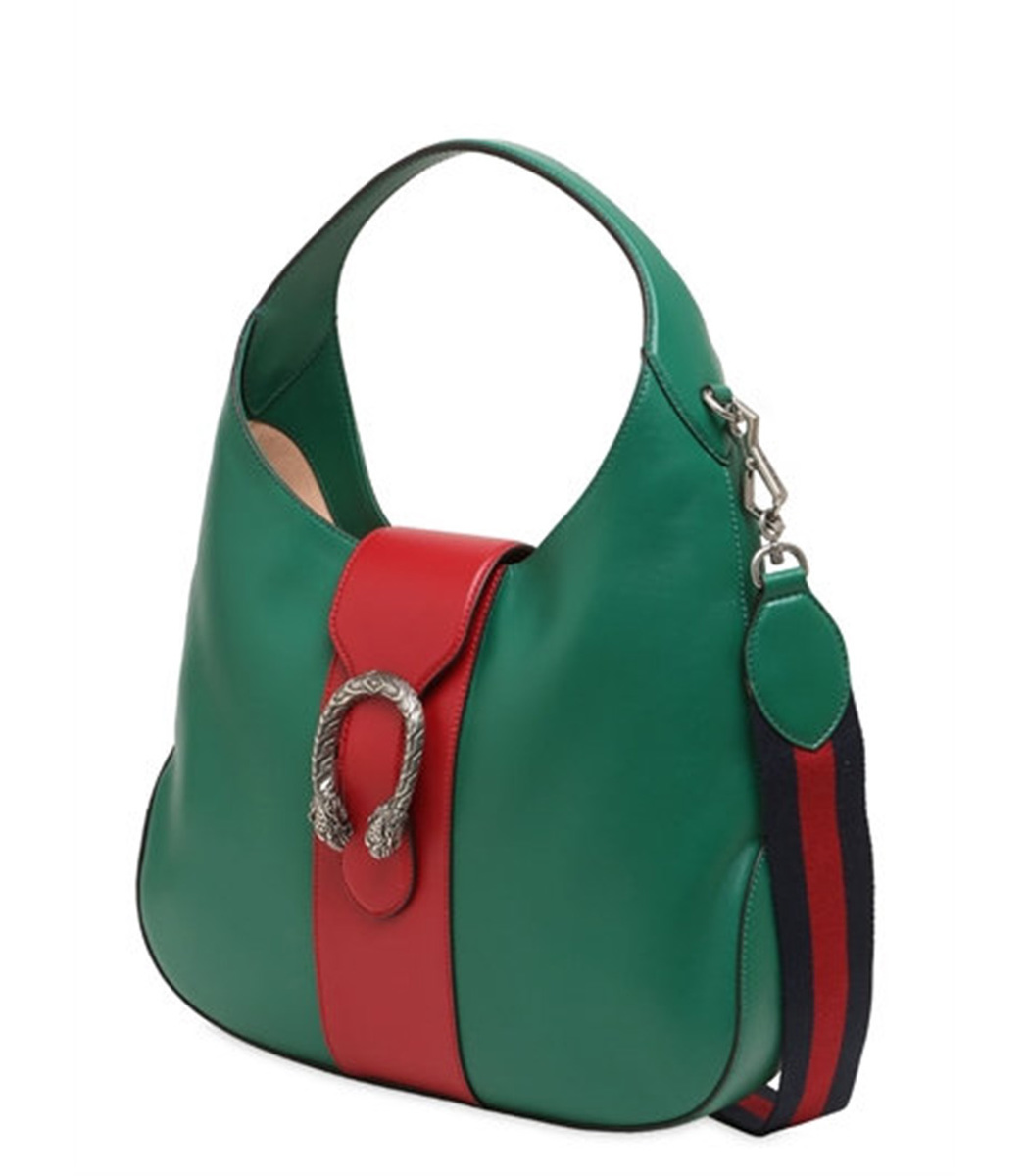 Gucci Dionysus Medium Leather Hobo Bag - Green One Interior Zip ...