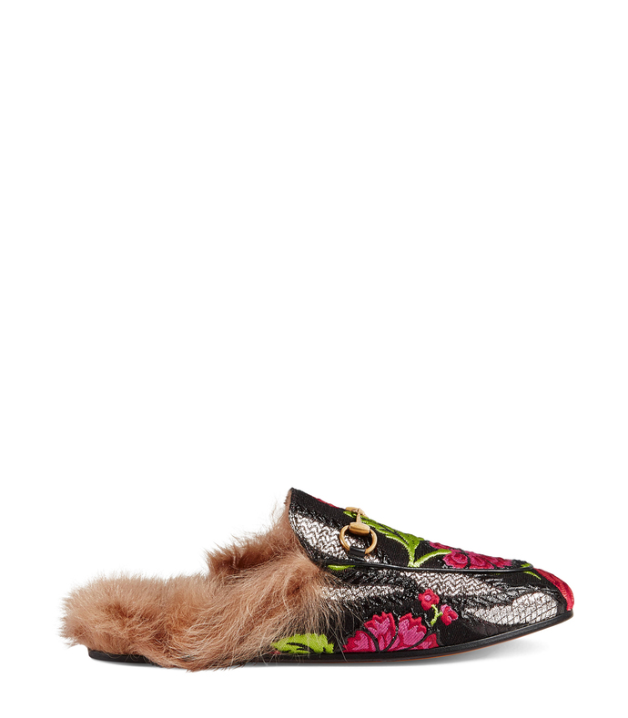 princetown floral brocade slipper