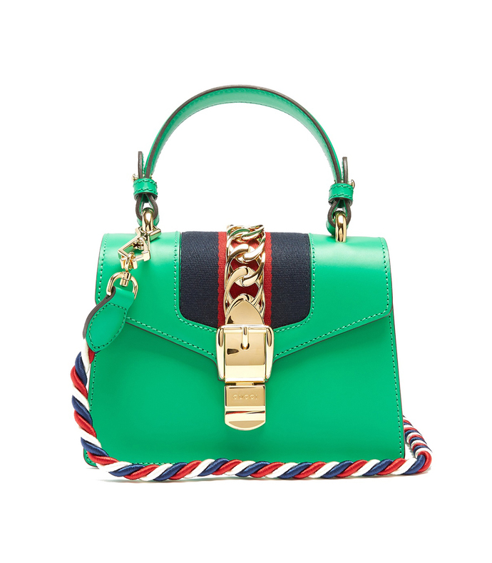 green 'sylvie' mini crossbody bag